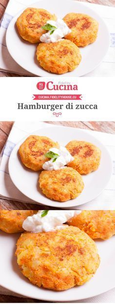 #Hamburger di #zucca Veg Recipes, Light Recipes, Italian Recipes, Vegetarian Recipes, Cooking Recipes, Healthy Recipes, I Love Food, Good Food, Yummy Food
