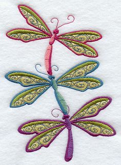 """Buzzing Dragonflies StackProduct ID:E8932 Size:4.71""""(w) x 6.86""""(h) (119.6 x 174.2 mm)Color Changes:12 Stitches:31917Colors Used:9"""