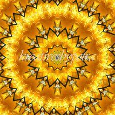 Mandala Kaleidoskop ''Blüte gelb''  kreativesbypetra Petra, Inspiration, Mandalas, Home Decoration, Mosaics, Yellow, Poster, Summer, Dekoration