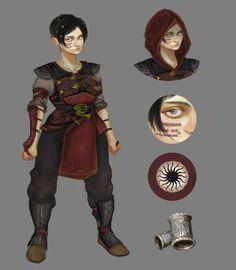 Dragon Age female dwarf concept