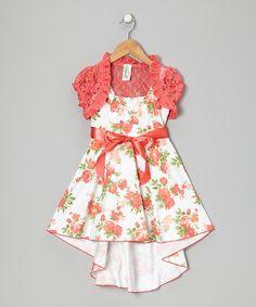 Coral Bow Dress Set #zulily #zulilyfinds