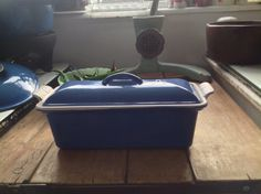 Vintage Colbert Blue Le Creuset Terrine Size by Onmykitchentable etsey $90.45