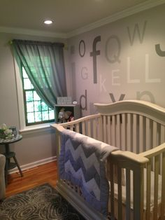 Project Nursery - Gray and Lime Green Nursery Crib