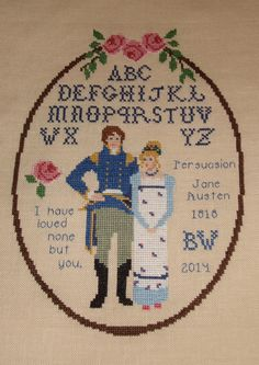 Jane Austen's Persuasion Sampler/None but by WestWindCrossStitch, $4.99