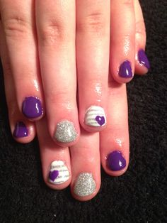 Purple and silver with hearts