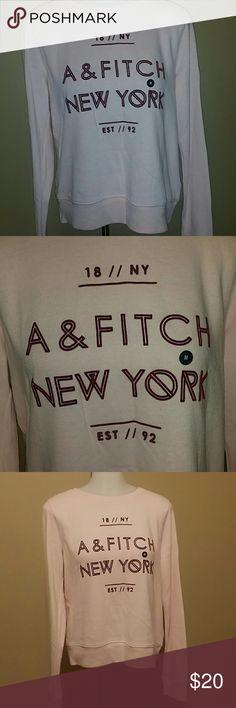 ABERCROMBIE  & FITCH  SWEATSHIRT Super cute sweatshirt,lightweight cotton, beautiful soft pink,brand new with tag Abercrombie & Fitch Tops Sweatshirts & Hoodies