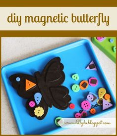 scrumdilly-do!: diy magnetic butterfly {that is also a chalkboard and a felt board}