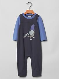 Pigeon colorblock one-piece #baby #boy #clothes #fashion #bird #Gap