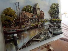 Papertole-Sümbül Eldek Fethiye, Art Corner, Biscuit, Landscape Art, Paper Mache, Dioramas, Paper Art, Decoupage, Felt