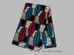 African Fabric  Wax Print Cotton Sold Per Yard by TessWorldDesigns,