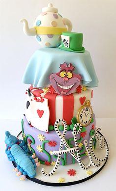 Alice in Wonderland themed design - for a birthday girl named Alice!
