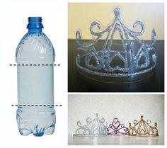 coronas de princesas recicladas - Buscar con Google