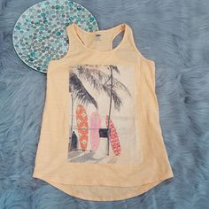 Old Navy Girls XL 14 Orange Surfer Beach Graphic Racerback Tank Top Palm Trees   Clothing, Shoes & Accessories, Kids' Clothing, Shoes & Accs, Girls' Clothing (Sizes 4 & Up)   eBay!