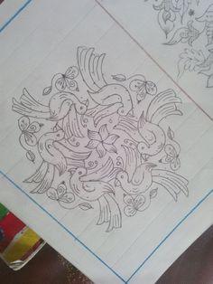 Flying birds.. Rangoli Designs Flower, Rangoli Kolam Designs, Rangoli Ideas, Rangoli Designs With Dots, Rangoli Designs Images, Kolam Rangoli, Rangoli With Dots, Beautiful Rangoli Designs, Simple Rangoli