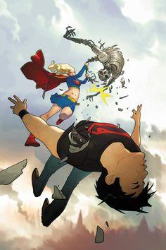 Supergirl vs Superboy by Joshua Middleton