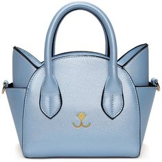 Cat Shape Solid Color Tote Bag ($99) ❤ liked on Polyvore featuring bags, handbags, tote bags, cat handbag, cat tote bag, cat tote, handbag tote and blue purse