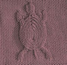 Turtle Square #free #knit #knitting #pattern #motif #square #freepattern #freeknittingpattern