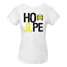 Endometriosis Hope Butterfly Women's Fitted T-Shirt - White | Cancer Shirts | Disease Apparel | Awareness Ribbon Colors