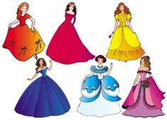 dibujos faldas de princesa - Buscar con Google