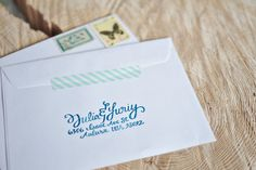 love - return address on back of envelope with some washi tape on the side.