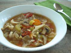 Fat Free Vegan Low Calorie Cabbage Soup Diet Recipe