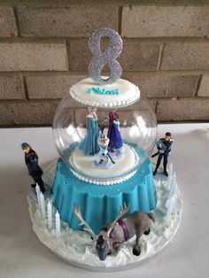 Photobucket Pictures, Images and Photos Frozen Theme Cake, Frozen Themed Birthday Party, Frozen Party, Frozen Snow Globe, Globe Cake, Bolo Frozen, Create A Cake, Pictures Images, Photos