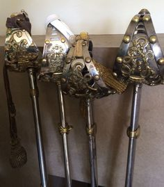 Household Cavalry officers' swords. Saber Sword, Fantasy Sword, Dagger Knife, Medieval Weapons, Royal Guard, Swords And Daggers, Arm Armor, Weapon Concept Art, Cold Steel