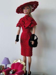 Barbie Crochê Miniaturas e Coisas Mais - De Tudo Um Pouco e Muito Mais: Vestido de Crochê Para Barbie Com Gráfico
