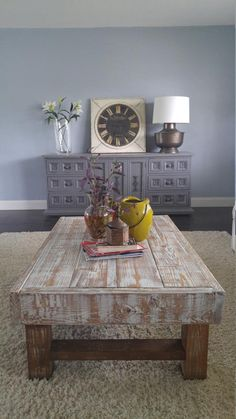Rustic Coffee Table, Farmhouse Coffee Table, Whitewashed Rustic Coffee Table, D… – Hazir Site Rustic Coffee Table Sets, Coffee Table Kitchen, Farmhouse Style Coffee Table, Kitchen Rug, Rustic Table, Rustic Farmhouse, Coffee Table Makeover, Kitchen Table Makeover, Farmhouse Living Room Furniture
