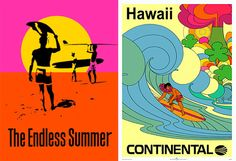 Vintage surfing posters | Club Of The Waves Blog