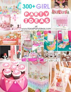 DIY- 300 + Girl themed party ideas!  Ideas, decorations, recipes, tutorials and more !