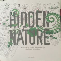 Hidden Nature Coloring Book for Adults.