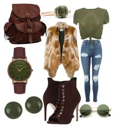 """""""Untitled #30"""" by michelle-kimble on Polyvore featuring Yves Salomon, Topshop, Massimo Matteo, AmeriLeather, Ted Baker and Pomellato"""