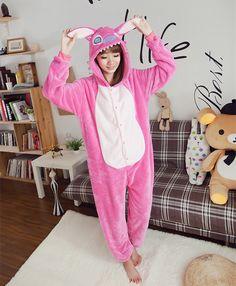 13d8bcf7b5 Christmas Unicorn Stitch Giraffe Unisex Flannel Pajamas Adults Cosplay  Cartoon Animal Onesies Sleepwear Hoodie Pajama For Women