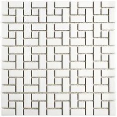 SomerTile Spiral Matte White and Glossy White Porcelain Mosaic Floor and Wall Tile sqft.) (Spiral Matte White and Glossy White) Retro, Ceramic Mosaic Tile, Tiles Online, White Tiles, Stone Tiles, Bathroom Flooring, White Porcelain, Porcelain Floor, Accent Pieces