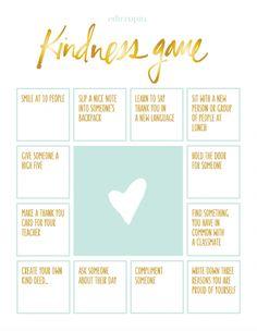 "The ""Kindness Game"" Activity   Edutopia"