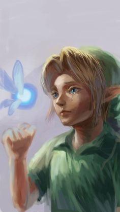 Young Link Art by ほうじ茶 (@hldzld)