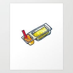 Cheese + Crackers Art Print by SnackPaintings - $20.00