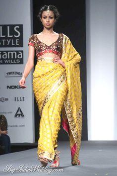 Anupama Dayal Wills Lifestyle India Fashion Week 2014   Lehengas & Sarees   Bigindianwedding