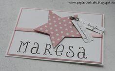 Einladungskarten - Einladungskarte zur Taufe - ein Designerstück von Sandra-Papierverliebt bei DaWanda