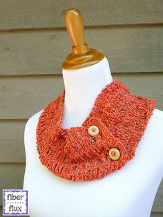 Ravelry: Tiger Lily Summer Cowl pattern by Fiber Flux / Jennifer Dickerson