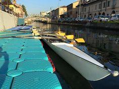 Time to rowing! #canottaggio #rowing #milan #milano #gig #barca #boat #navigli #navigliogrande #canottieriolona1894 #succedeinolona