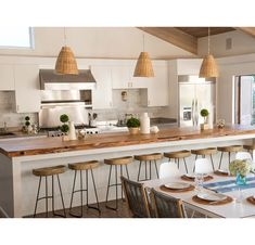 With the improvement of people's living standards, kitchen design has become one of the focuses of modern home design. The kitchen is not only the… Rattan Pendant Light, Kitchen Pendant Lighting, Kitchen Pendants, Pendant Lamp, Globe Pendant, Pendant Lights, Beach House Kitchens, Home Kitchens, Coastal Kitchens