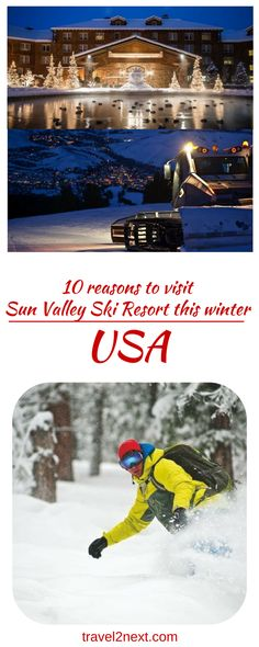 10 reasons to visit Sun Valley Ski Resort this winter. 300 sunny days a year, generous snowmaking and a diligent grooming programme are good reasons to put Sun Valley Resort on your list this ski season.