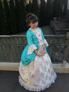 Kendyl's dress for her Colonial Day Celebration.