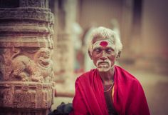 From Day 12 of The Traveling Ratcliff Photo Circus Around the World! A man mediates at a temple. - Puducherry, India Follow the adventure at http://www.stuckincustoms.com/category/travel/30-days-2016/