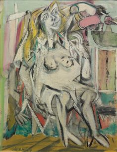 The article summarizes the career of American artist Willem de Kooning, who became the most influential and perhaps the highest paid abstract artist in American history. Willem De Kooning, Jackson Pollock, De Kooning Paintings, Picasso Paintings, Oil Paintings, Action Painting, Contemporary Abstract Art, Modern Art, Figurative Kunst