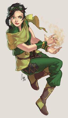 Sandbender, and can use Seismic Sense. 14 yrs old. Non-binary Female Character Design, Character Creation, Character Design Inspiration, Character Concept, Character Art, Avatar Airbender, Avatar Aang, Dnd Characters, Fantasy Characters