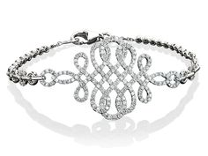 Cellini Jewelers Open Work Diamond Breezy Bracelet 1.39 carats of round brilliants make up this easy to wear diamond bracelet. It makes for a great layering piece, while at the same time is important enough to stand alone.