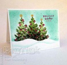 Hero Arts - Color Layering Christmas Tree Again - More organizing
